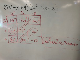 Multiplying Polynomials Practice